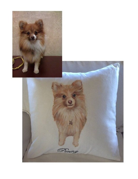 Custom pillow, Pet Portrait Pillow, Pet Pillow, Dog Portrait, gifts for dog lovers, dog lover, dog pillow, dog painting, dog portrait, cat