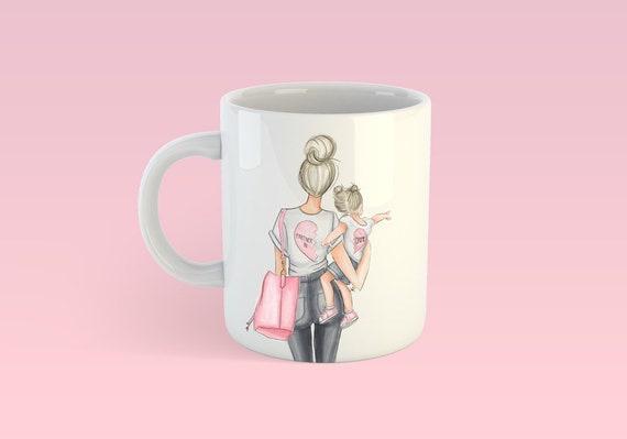 Mom mug, Mother's Day, mommy and me mug, mother daughter mug, mom Art, custom mug, gifts for mom, gifts for her, mother daughter, mom gift