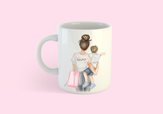 Boy mom, Mom mug, Mother's Day, mommy and me mug, mother son mug, mom Art, custom mug, gifts for mom, gifts for her, mother son, mom gift