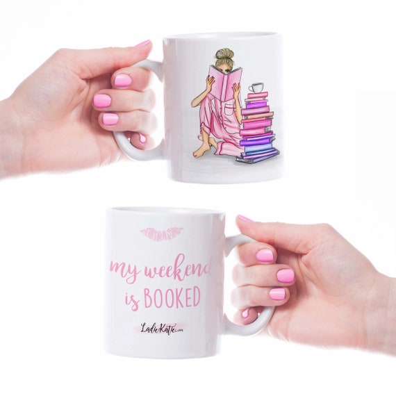 Book worm, reader, book lover mug, teacher mug, GIRLBOSS mug, girl boss mug, coffee lover, girly mug, custom mug, boss mug, gifts for her