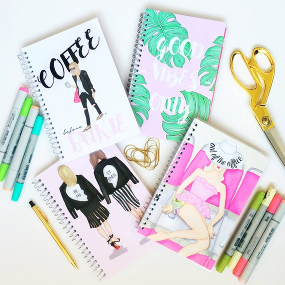 Customizable 2018 -2019 planner, fashion illustration, custom calendar, best friend planner, girly planner, custom planner