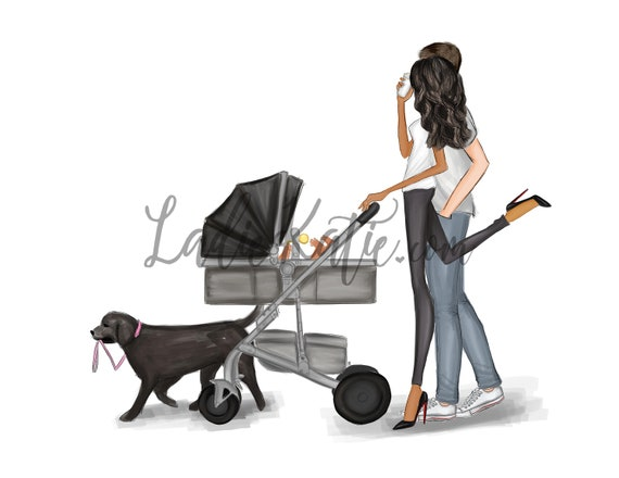 family art, new mom, new dad, mommy and me, girls room, girly print, little girl, mom art, mini me, girls room, mother daughter art