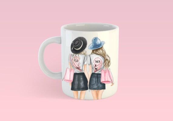 Best friends mug, best friends, besties mug, coffee lover, Fashion mug, girly mug, bff mug, bff gift, best friend gift, gifts for her