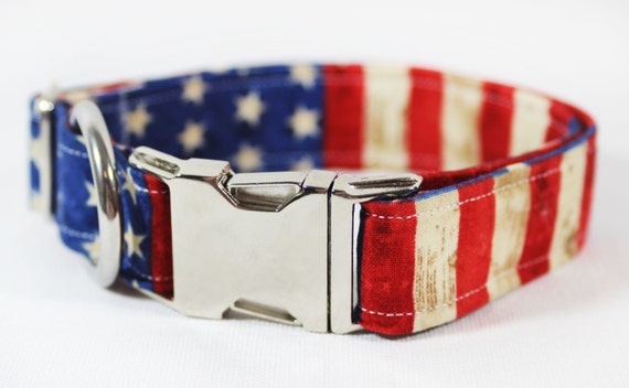 Drapeau américain avec des étoiles et des rayures chien - «Glory Glory»