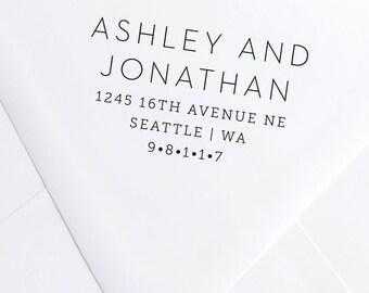 Modern Block Address Stamp
