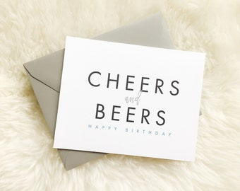 Cheers and Beers // Happy Birthday Card