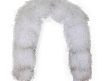 2fd211d1629 Glacier Wear Natural Blue Fox Fur Ruff 28 inches