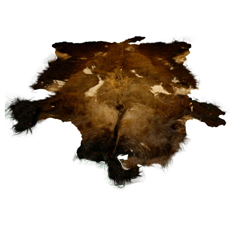 Glacier Wear Second Quality Buffalo Bison Robe Hide Rug #0975