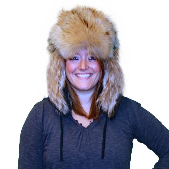Glacier Wear Coyote Fur Russian Trooper Hat hts1030  0170609e78db