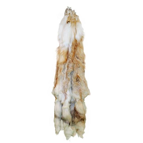 9ce48eb6021189 Glacier Wear Premium Label White Mark Red Fox Pelt Hide Fur