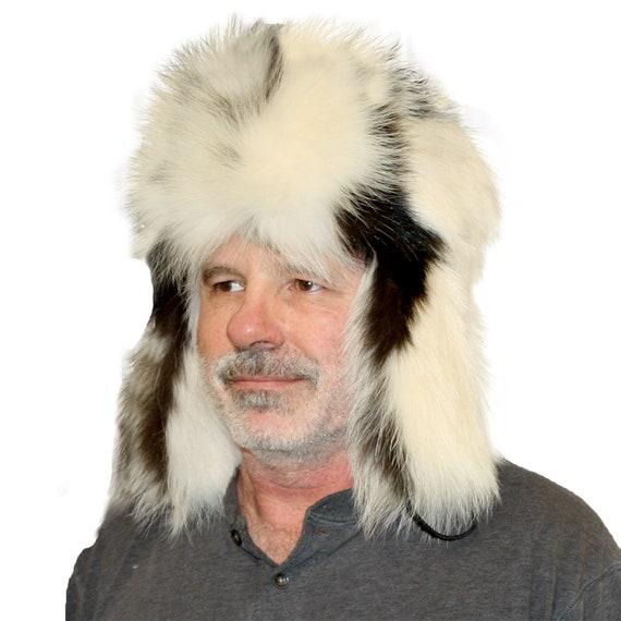 Glacier Wear Skunk Fur Russian Trooper Hat hts1041  2f48fb7b0870