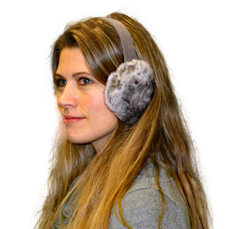 Glacier Wear Chinchilla Rex Rabbit Fur Ear Muffs  642e8bc885c4