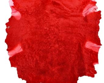 Glacier Wear Red Shearling Sheep Lamb Wool shp7039