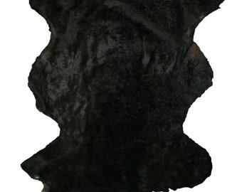 Glacier Wear Black Shearling Sheep Lamb Wool shp7046