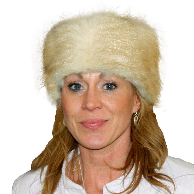 24c8fd6b3a4df Glacier Wear Blonde Beaver Fur Pill Box Hat hts1506