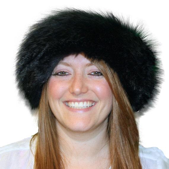 Glacier Wear Charcoal Dyed Badger Fur Headbands Neck Warmers  3f795f0dbfea