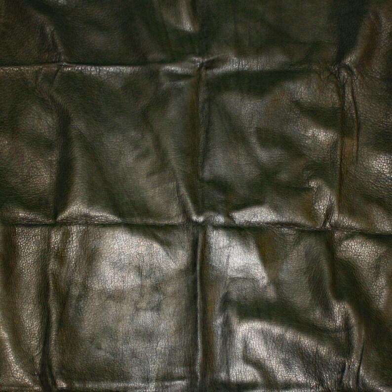 Glacier Wear Pre-Cut Leather Buckskin Hide Black lth3003