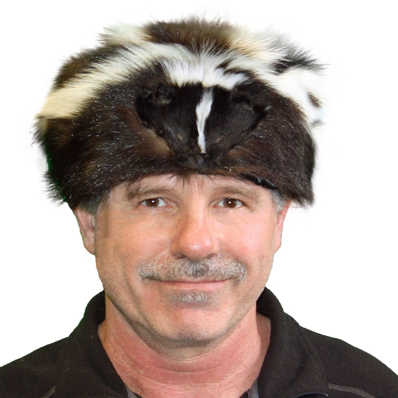 9bb7996226b91 Glacier Wear Skunk Fur Davy Crockett Hat hts1785