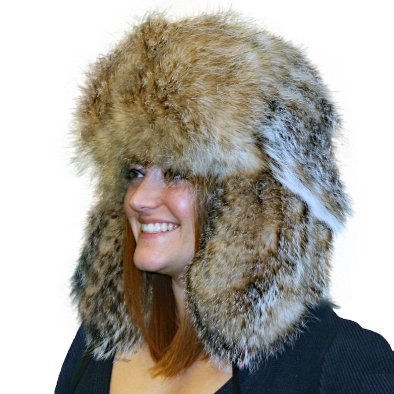 ff5e186631457 Glacier Wear Badger Fur Russian Trooper Hat hts1020