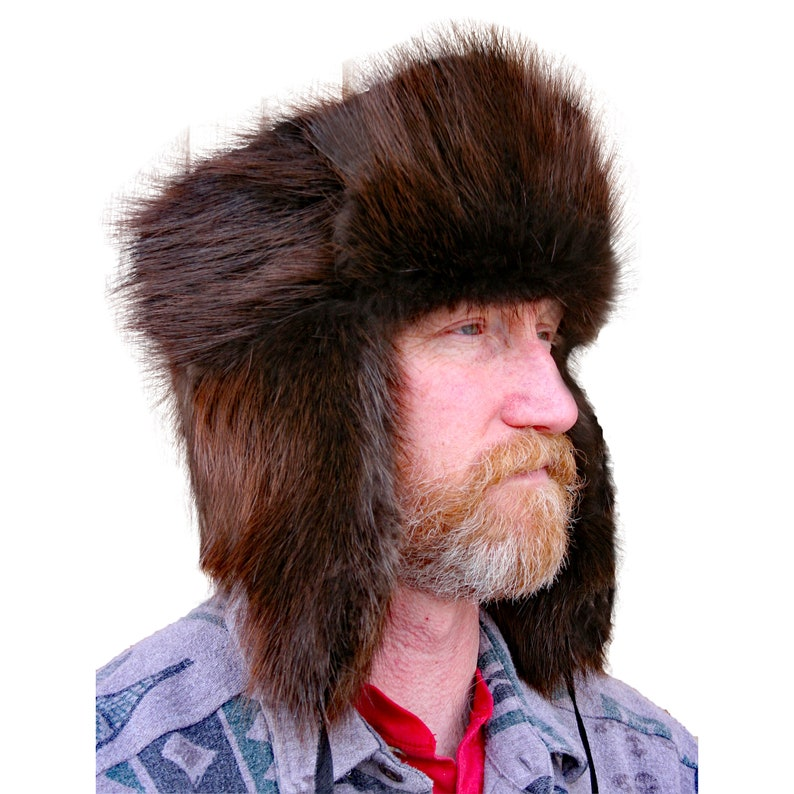 d7a3e16f6487f Glacier Wear Natural Beaver Fur Russian Trooper Hat hts1000