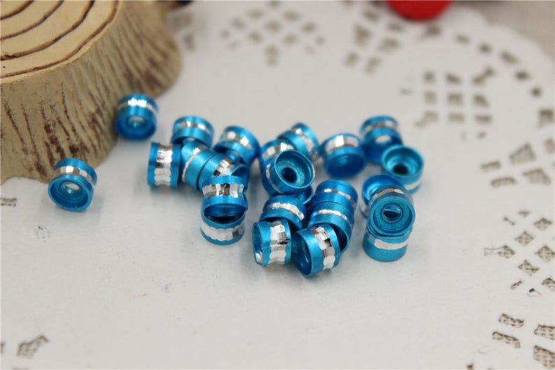 50 beads spacer metal aluminum color 7 colors of your choice