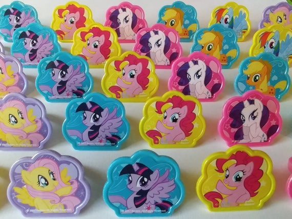 24 My LITTLE PONY MLP Rings Cupcake Toppers Cake Birthday