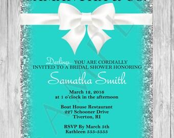 bridal shower invitation tiffany and company bridal shower invitation tiffany co printable invitation elegant classic invitation