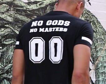 b6aa9742c No Gods No Masters T-shirt - Black Anarchy T-Shirt by ALLRIOT