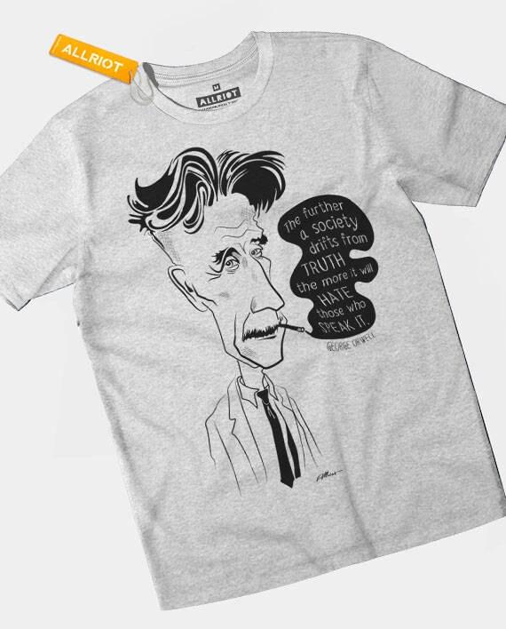 Citazione Di George Orwell 1984 T Shirt Pensato Criminali Insieme