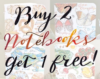 Buy two notebooks, get one free.