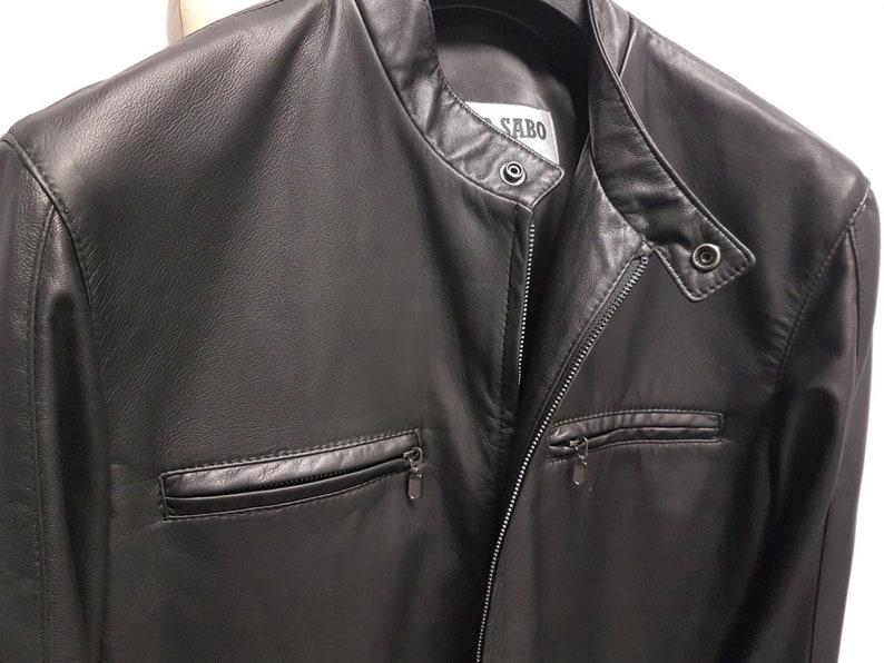 2888dd072 New VIKTOR SABO Canadian Exclusive Handmade Men's Lambskin BLACK Bomber  Jacket Great Gift Colours Available Medium
