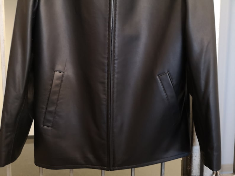 26212489b New VIKTOR SABO Canadian Exclusive Handmade Men's Lambskin BLACK Bomber  Jacket Great Gift Colors Available Size 38