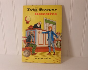 "Vintage ""Tom Sawyer Detective"" Children's Book With Illustrations"