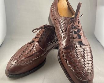 1950s woven leather vintage men's shoes