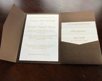 Custom Metallic Event Invitations