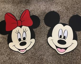 Mickey & Minnie Paper Cutouts