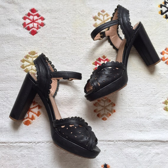 see by chloé | scalloped platform heels | US 8