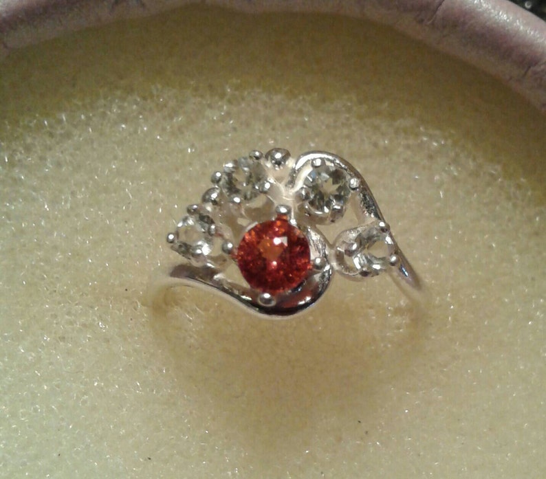 Natural Spinel Sterling Silver Engagement Ring