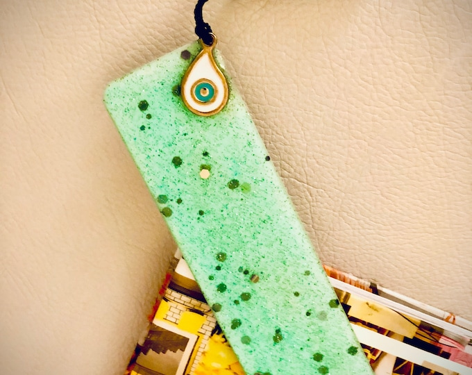 Gold Leaf  bookmark, Resin pressed flower bookmark...and more