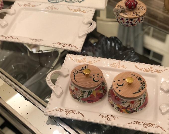Set of two Ramadan serving plates رمضان كريم