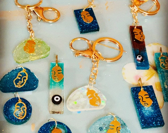 Handmade EVIL EYE,faces, various charms keychains