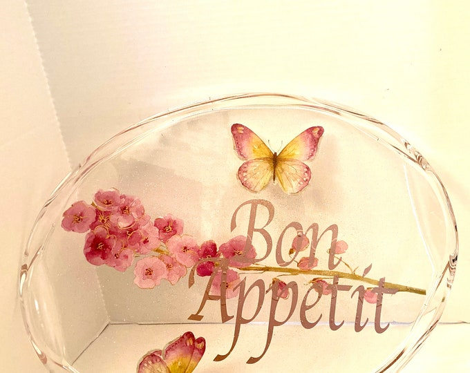clear Oval tray