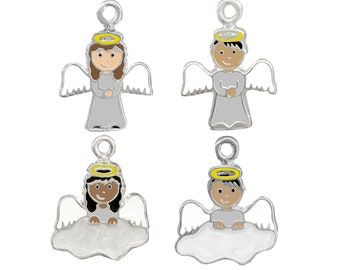 Angel Boy or Angel Girl Full or Partial Body Charm for Necklace or Bracelet