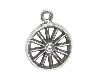 Wagon Wheel Sterling Silver Charm or Tie Tac