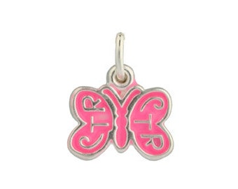 Butterfly CTR Choose The Right  Sterling Silver Charm for Necklace or Bracelet