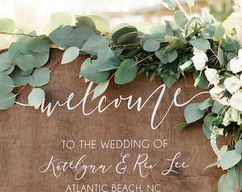Wood Wedding Program Sign | Wedding Program Sign | Wood Wedding Program | Rustic Wedding Signs | Wooden Wedding Signs | Signs