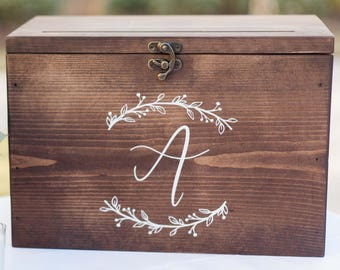 Wedding Card Box Ideas Wedding Card Box With Slot Wood Etsy