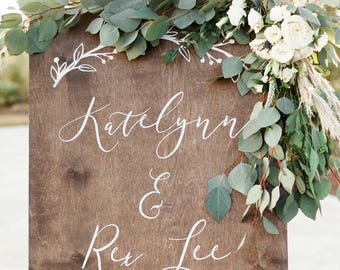 Large Wooden Welcome Sign, Large Wooden Wedding Welcome Sign, Wedding Welcome Sign for Ceremony, Wooden Wedding Welcome Sign
