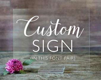 Clear Acrylic Wedding Sign   Custom Acrylic Wedding Sign   Custom Wedding Date Sign   Welcome Wedding Signs   Wedding Welcome Sign - SCC-77