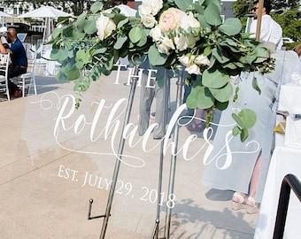 Wedding Welcome Sign | Acrylic Wedding Sign | Wedding Signs | Lucite Wedding Sign | Wedding Signs | Acrylic Wedding Signs | Acrylic - AS-39